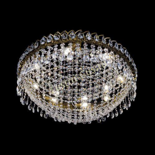 Люстра Водоворот Сетка 8 ламп под бронзу в Санкт-Петербурге Гусь Хрустальный