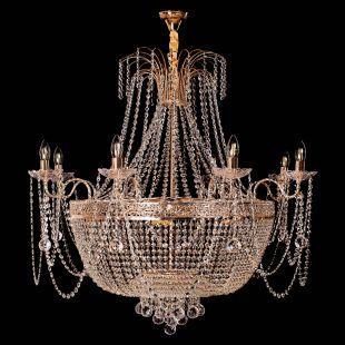 Люстра Валенсия №10 - 16 ламп рожковая